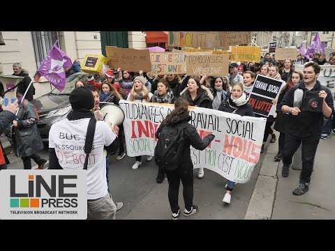 Retour sur la manifestation du travail social / Paris - France 20 novembre 2017