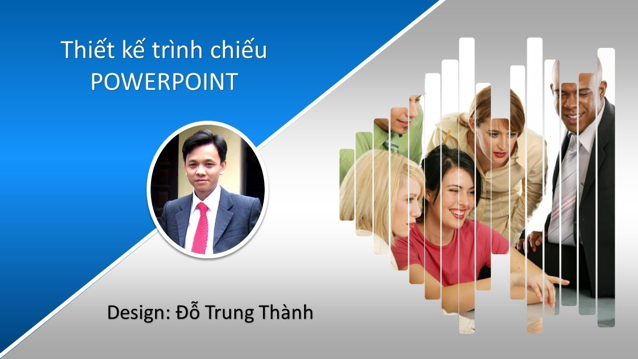 PowerPoint 2016: Kỹ thuật lồng ảnh trong Shapes Design Template PowerPoint