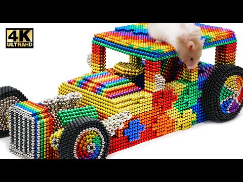 DIY - How To Make Rat Car For Rat From Magnetic Balls (Satisfying) | Magnet World Series