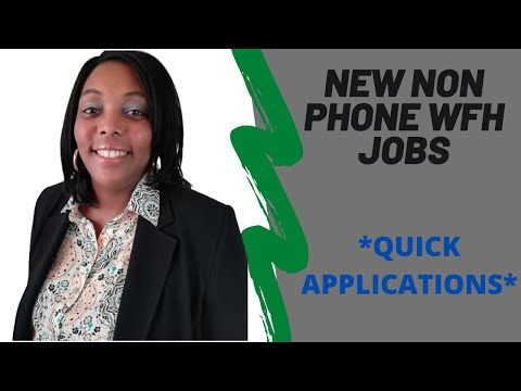 New Non Phone Online Jobs 2020|Legitimate Work From Home Jobs 2020