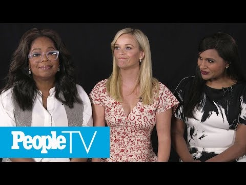Kids Interview 'A Wrinkle In Time' Stars Reese Witherspoon, Oprah Winfrey & Mindy Kaling | PeopleTV