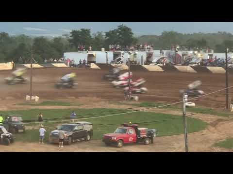 410 Sprint Cars Heat 3 | Path Valley Speedway Park | PA Speedweek Night #3 | 7/1/18