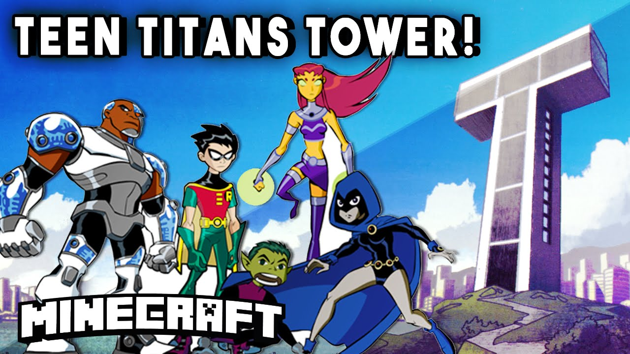 Minecraft Skyscrapers – TEEN TITANS TOWER! (Epic Skyscraper Base) || Minecraft Maps