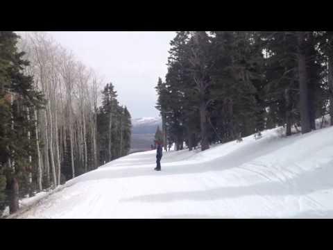 Fat man on a snowboard