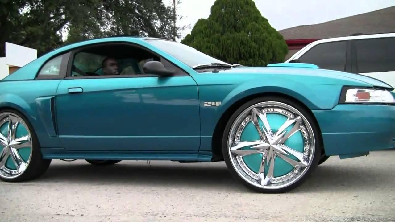 Big Truck Wheels 24 5 : Mustang on inch shoalin rims florida classic