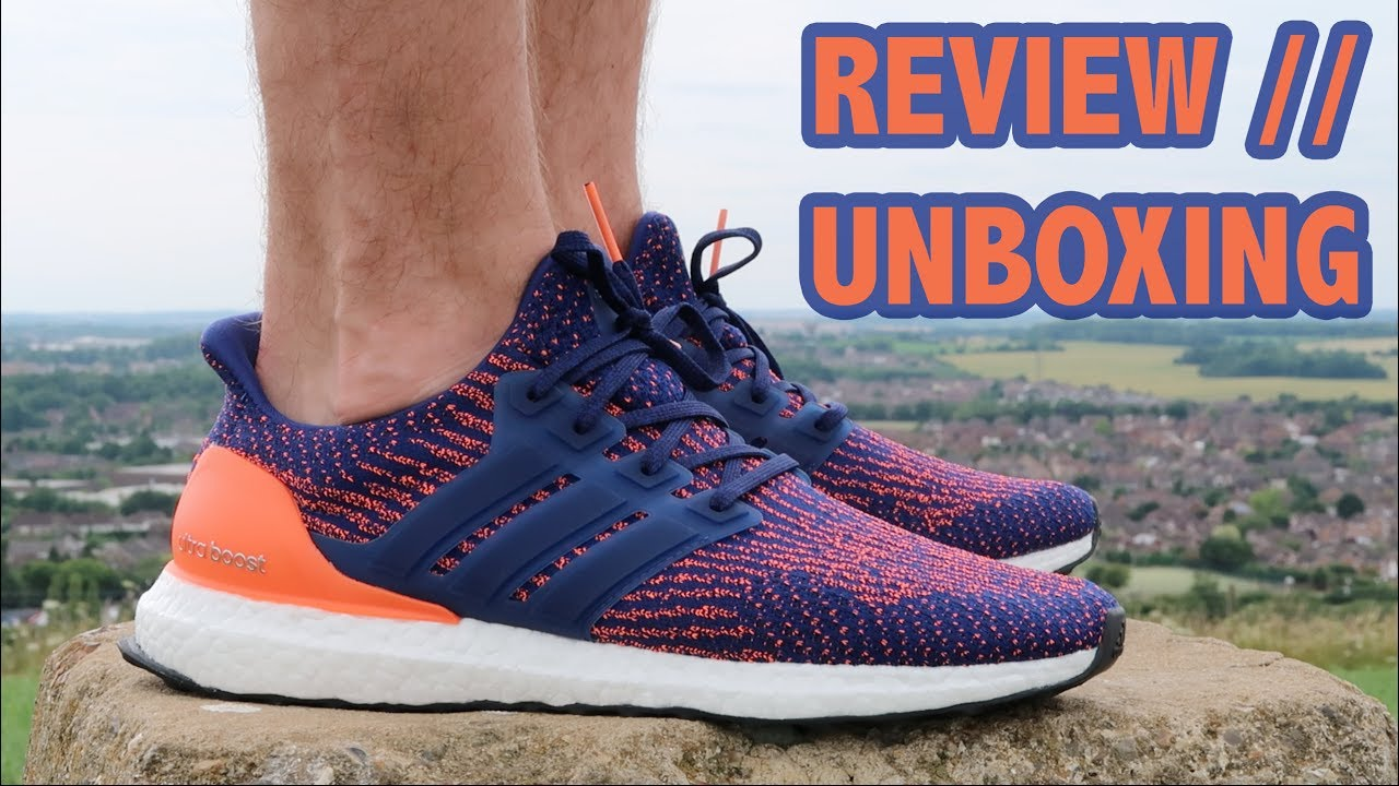 78bf8bf889733 ADIDAS ULTRA BOOST 3.0 MYSTIC INK SOLAR ORANGE REVIEW + UNBOXING ...