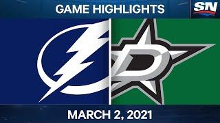 NHL Game Highlights | Lightning Vs. Stars – March 02, 2021