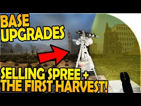 BASE UPGRADES - SELLING SPREE + THE *FIRST* HARVEST - 7 Days to Die Alpha 16 Gameplay Part 50 (S2)