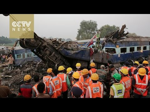 Rescuers finish search of Indian train wreck, 142 confirmed dead