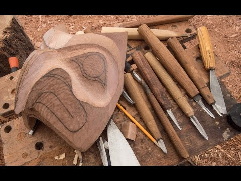 FTF #56 Carving A Totem Pole Pt 1, Make Your Own Carving Tools!