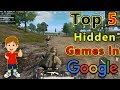 Top 5 Hidden/Secret Games in Google | Play Games in Google Chrome | In Hindi/Urdu |