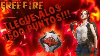 Así finalice la temporada +3500 puntos FREE FIRE