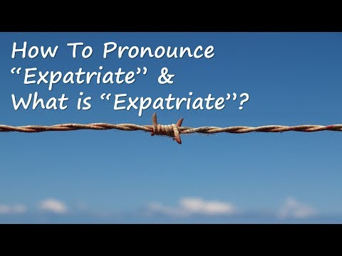 ✔️ How to Pronounce Expatriate and What is Expatriate? By Video Dictionary