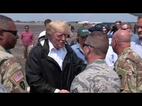 President Donald Trump visits Ellington Field