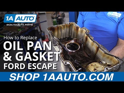 How to Replace Oil Pan & Gasket 08-12 Ford Escape