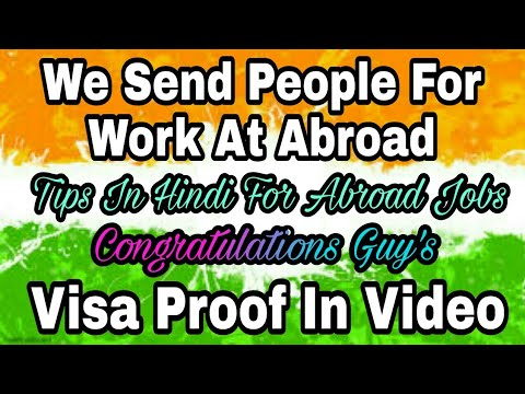 Our Success Story Of Abroad Jobs, With Visa Proof, We Send People to Overseas for work,From Pasi Sir