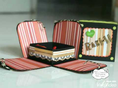 Rakshabandhan Special !!! Explosion Box with such a cute Rakhi :) /Surprise Box By Neet's Creations