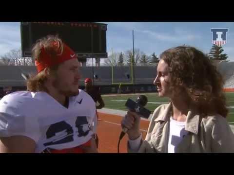 Illinois Football DB Clayton Fejedelem Post-Practice Interview 3/16/15