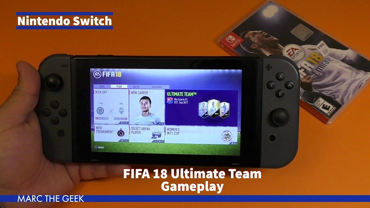 nintendo switch fifa 18 ultimate team gameplay youtube. Black Bedroom Furniture Sets. Home Design Ideas