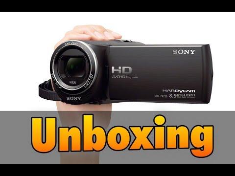 Unboxing vídeo cámara Sony Handycam HDR-CX240E
