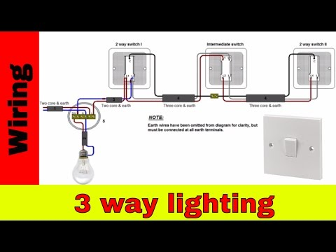 How to wire 3-way lighting circuit UK