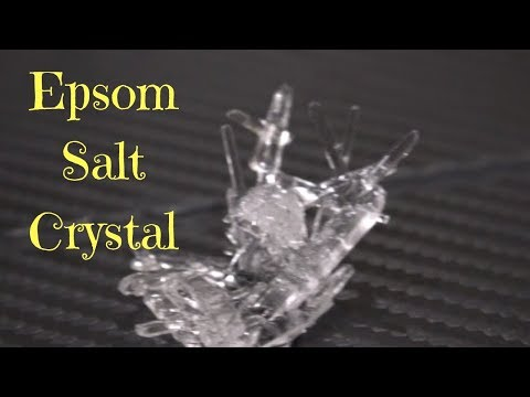 How To Make Beautiful Epsom Salt Crystals  ( For Kids )