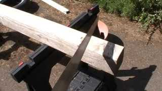 How to cut a piece of wood