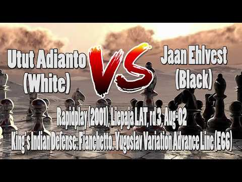 Pertandingan Catur|Chess Game Utut Adianto vs Jaan Ehlvest|Rapidplay (2001)