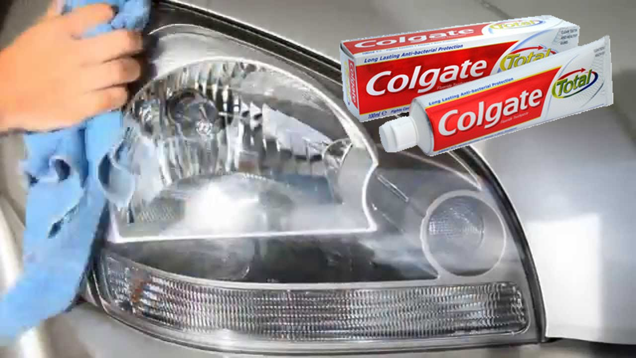 Clean Headlight Haze With Toothpaste