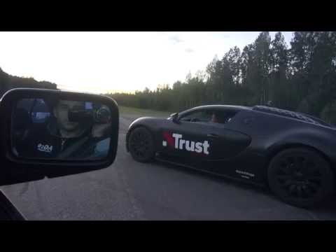 "BMW View 900 RWHP M5 Vs Bugatti Veyron 16.4 ""Dutchbugs"" BRUTAL G-forces FAIL Filming"