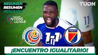 Resumen y Goles | Costa Rica 1 - 1 Haití | CONCACAF Nations League - J 5 | TUDN
