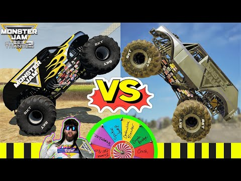 Monster Jam Steel Titans 2 and BeamNG Drive INSANE Freestyle |