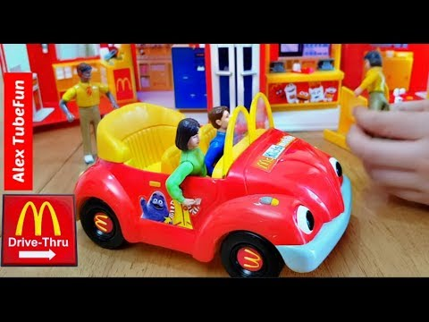 Driving Power Wheels to McDonald's- Kids Fun Pretend Play with Toys
