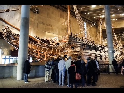 Vasa Museum, home of a 17th century ship, in Stockholm, Sweden
