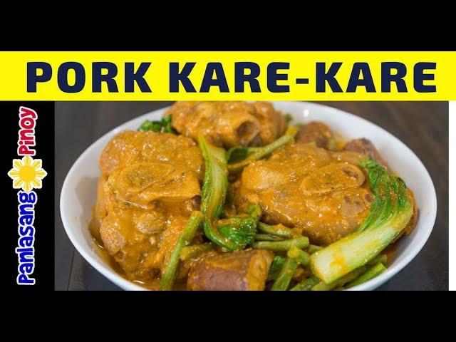 Pork Kare Kare Recipe Pata Kare Easy Filipino Kare Kare Panlasang Pinoy Youtube
