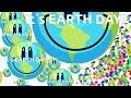 NO.1 WITH EARTH DAY SKIN & RANDOM FEEDER - Agar.io Gameplay
