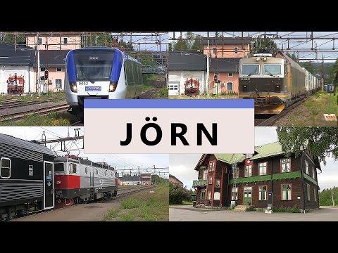 Jörn Station och avfolkningsbygd. Norrtåg, SJ Norrlandståg och CargoNet.