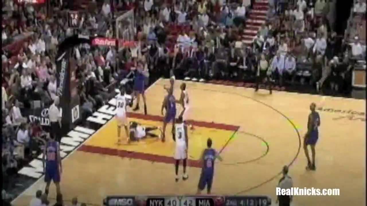 David Lee Dunk and Toney Douglas and 1 vs Heat - YouTube