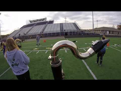 Bellbrook High School Marching Band 2017 Bass Clarinet Head Cam - Dakota Looney