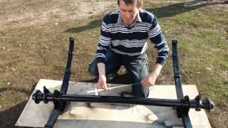 видео Самодельный прицеп к жигулям. Самодельный прицеп для легкового автомобиля: изготовление, регистрация