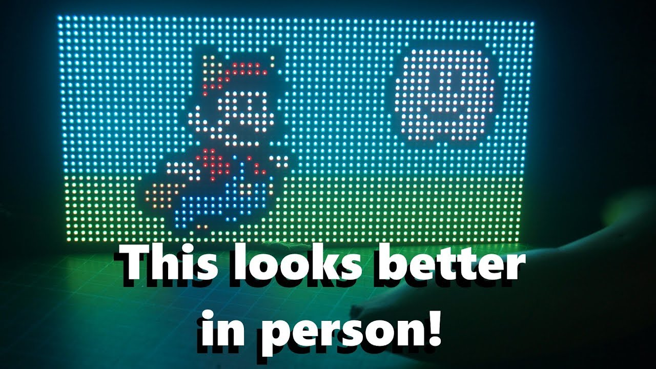 RGB LED Matrix with an ESP8266 - How to get started Diy Led Matrix Display Wiring Diagram on
