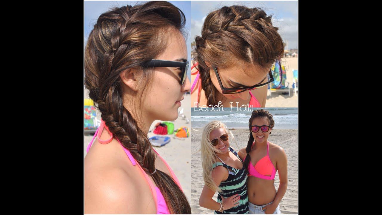 Waterfall Head Band Braid Fishtail Braid Hair Tutorial At The