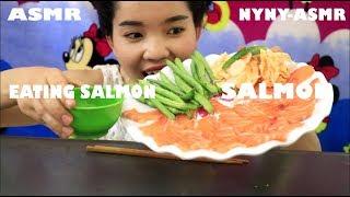 ASMR Eating Sounds SALMON SASHIMI| NYNY-ASMR