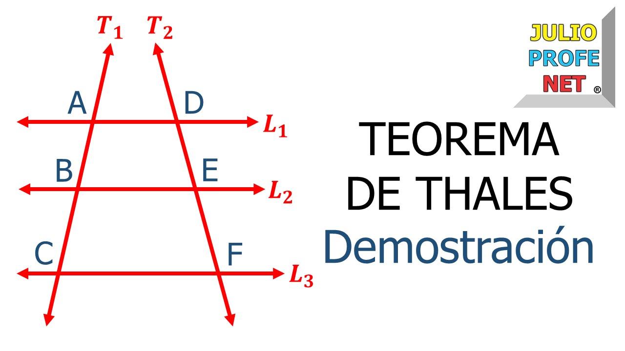 Teorema De Thales Parte 1 Demostración Youtube