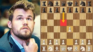 The Scandinavian! || Anand vs Carlsen || GCT Tata Steel Blitz (2019)