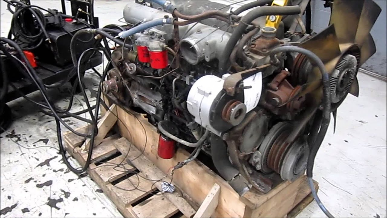 1990 Ford 7.8L Diesel Engine Running - YouTube