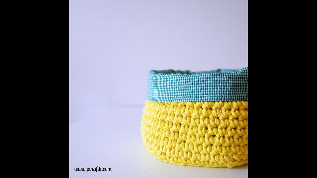 Pinafili films tutorial para forrar con tela un cesto de - Telas para forrar cabecero cama ...