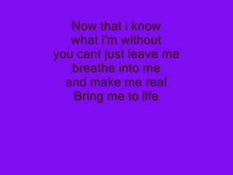 evanscence wake me up inside lyrics youtube