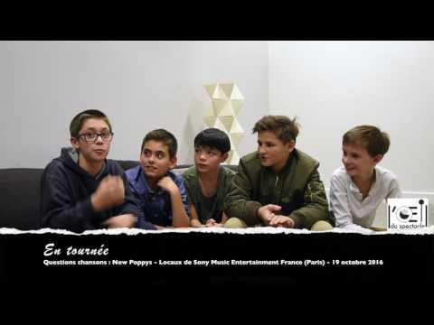 L'Œil du spectacle Interview New Poppys Locaux Sony Music France 19 octobre 2016