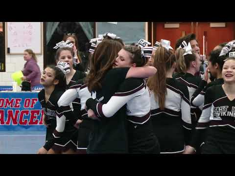 East Lyme High School at 2018 ECC Cheerleading Championship